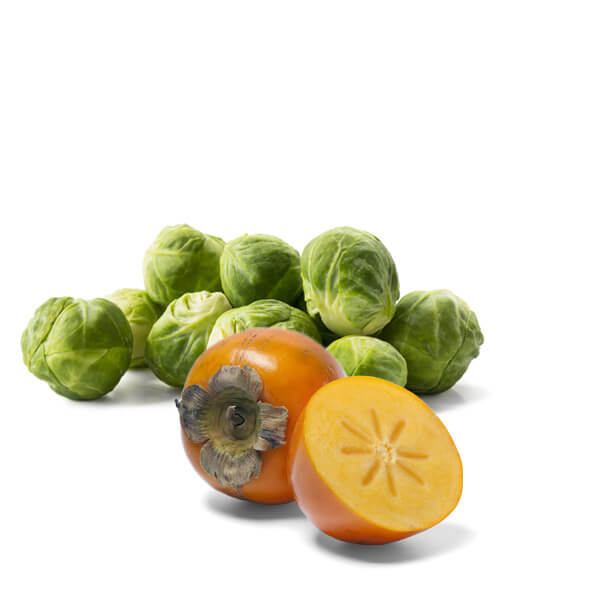 Brussels Sprouts and Persimmon